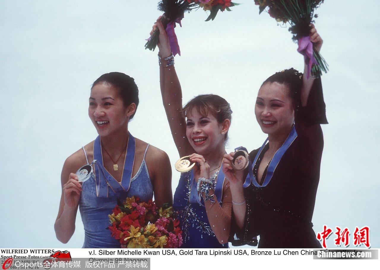 资料图:长野冬奥会颁奖仪式。图片来源:Osports全体育图片社