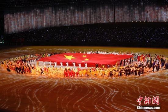 资料图:9月15日晚,第十四届全运会正式拉开帷幕,开幕式在位于千年古都西安的奥体中心举行。<a target='_blank' href='http://www.chinanews.com/'>中新社</a>记者 盛佳鹏 摄