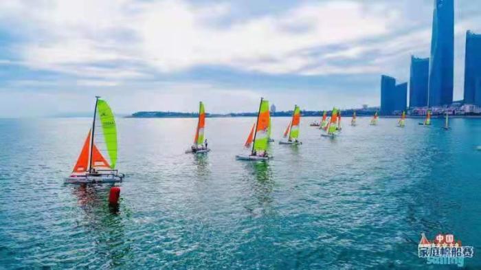 比赛现场。中国帆船帆板运动协会供图