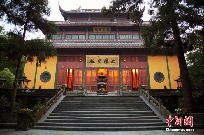 资料图:灵隐寺是中国佛教著名寺院,位于浙江省杭州市西湖西北面。