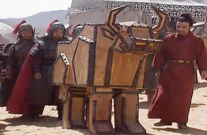 电视剧版《三国演义》司马懿见到诸葛亮的木牛流马