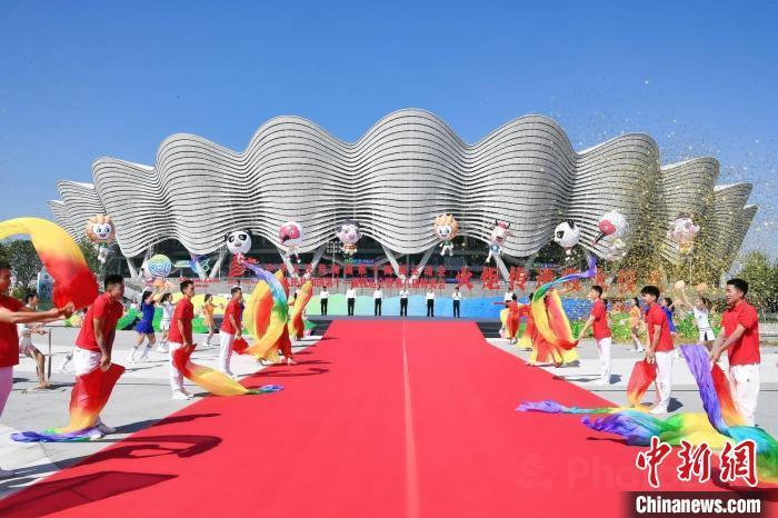 十四运会和残特奥会火炬传递活动。 十四运会官方供图