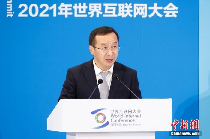 图为中国资讯社社长陈陆军在论坛致辞。中新社记者 韩海丹 摄
