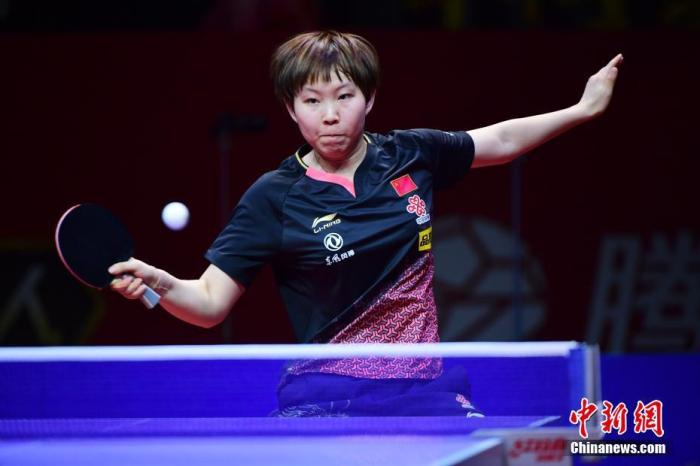 资料图:朱雨玲在比赛中 <a target='_blank' href='http://www.chinanews.com/'>中新社</a>记者 陈文 摄