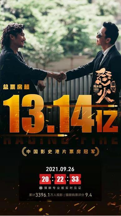 《怒火•重案》获观众普遍好评 成中国影史港片票房冠军