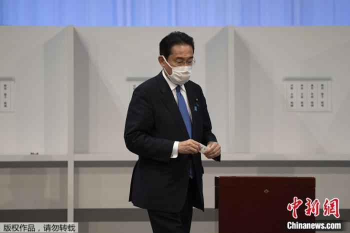 资料图:日本自民党总裁岸田文雄。