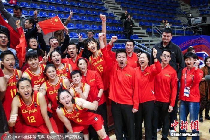 奥运预选赛后的中国女篮。图片来源:Osports全澳门新莆京在线登录图片社