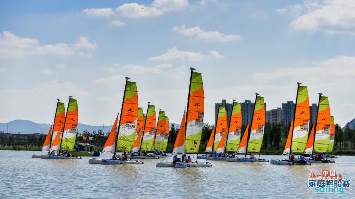 中国家庭帆船赛台州站收帆 参赛选手赞叹团队精神