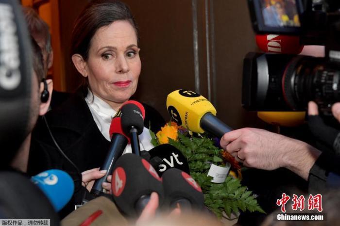 资料图:因丑闻事件引咎辞职的瑞典学院常任秘书长莎拉·丹妮奥斯。