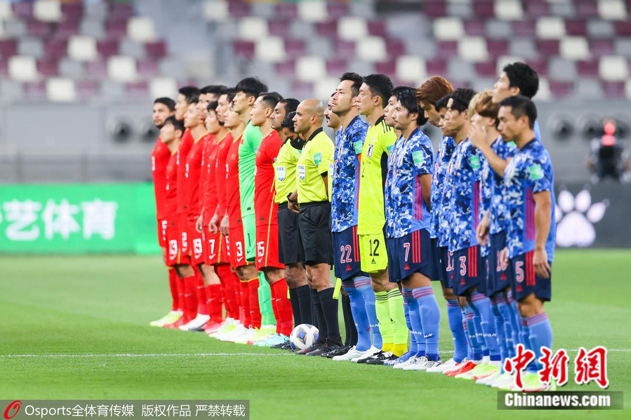 12强赛次轮,国足0:1不敌日本。图片来源:Osports全体育图片社