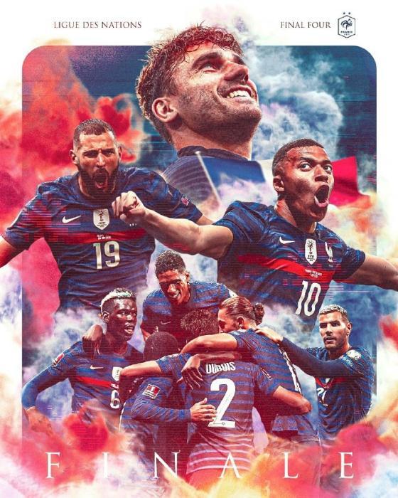 欧国联:法国3球逆转比利时 决赛迎战西班牙队