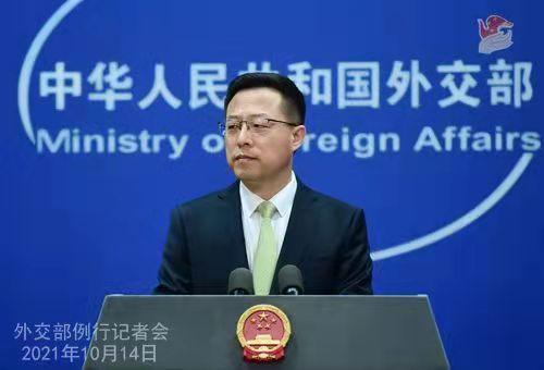 外交部发言人赵立坚。薛伟 摄