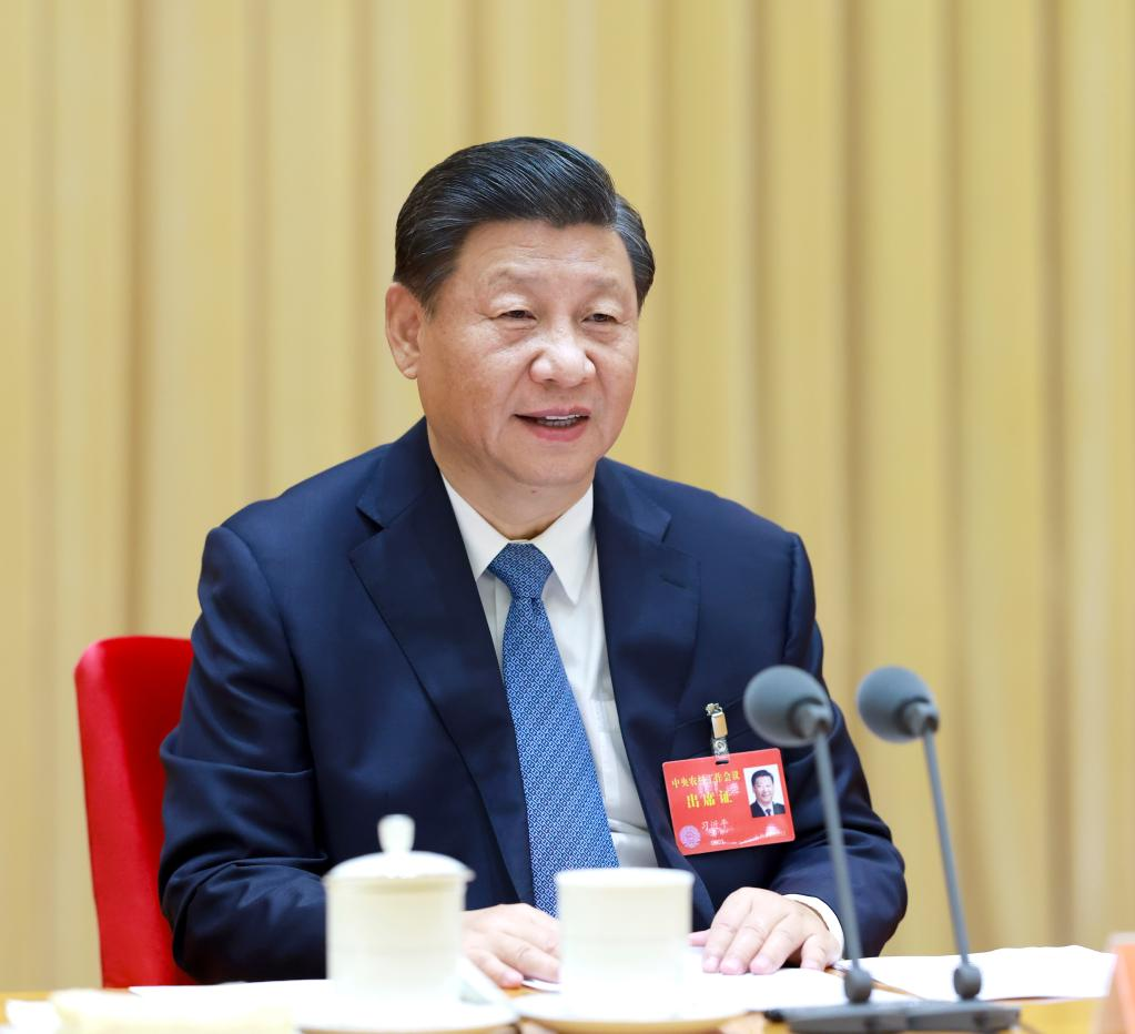 2020年12月28日至29日,中央农村工作会议在北京举行。中共中央总书记、国家主席、中央军委主席习近平出席会议并发表重要讲话。新华社记者 李学仁 摄