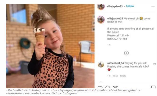 4岁女童神秘失踪!西澳政府悬赏100万澳元寻求线索