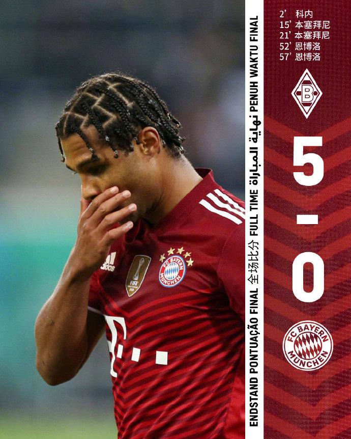 没看错!德国杯第三轮 拜仁0:5爆冷不敌门兴…