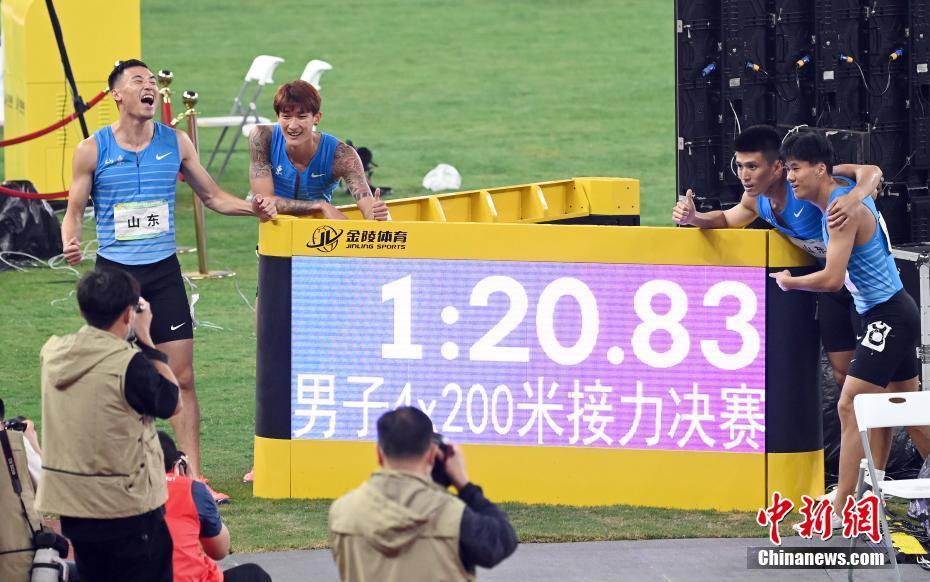 全运会田径男子4x200米接力:山东队战胜苏炳添领衔的广东队